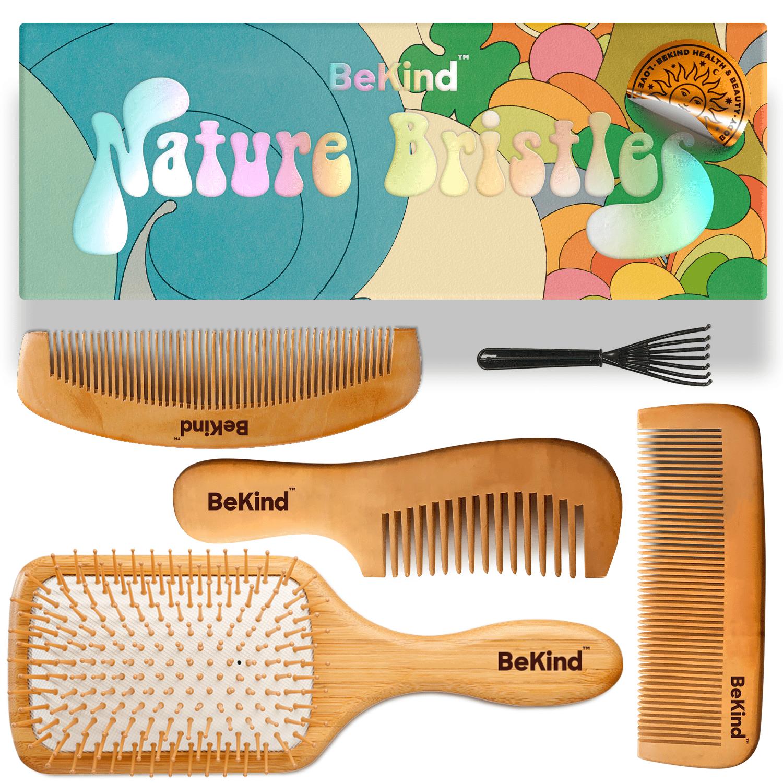 1 Nature Bristles – Brush & Combs Kit Set