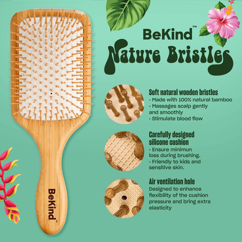 3 Nature Bristles – Brush & Combs Kit Set