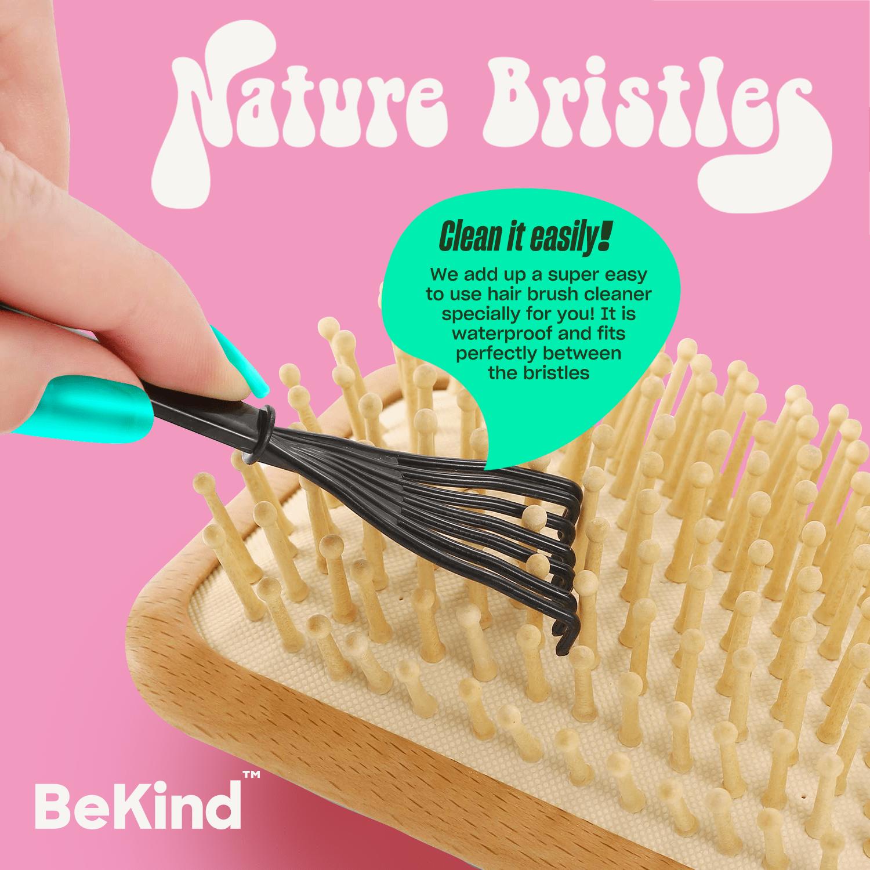 7 Nature Bristles – Brush & Combs Kit Set
