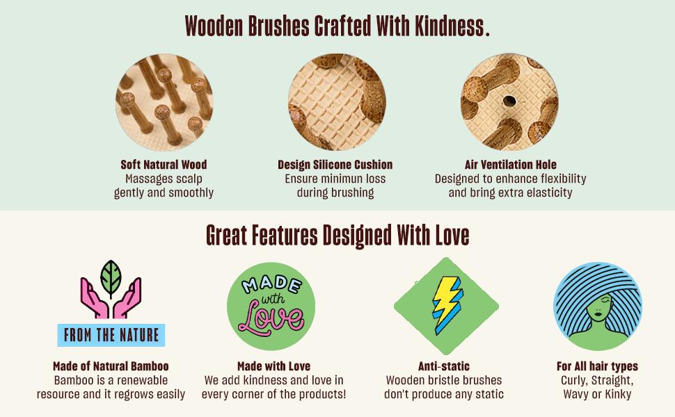 A3 Nature Bristles – Brush & Combs Kit Set