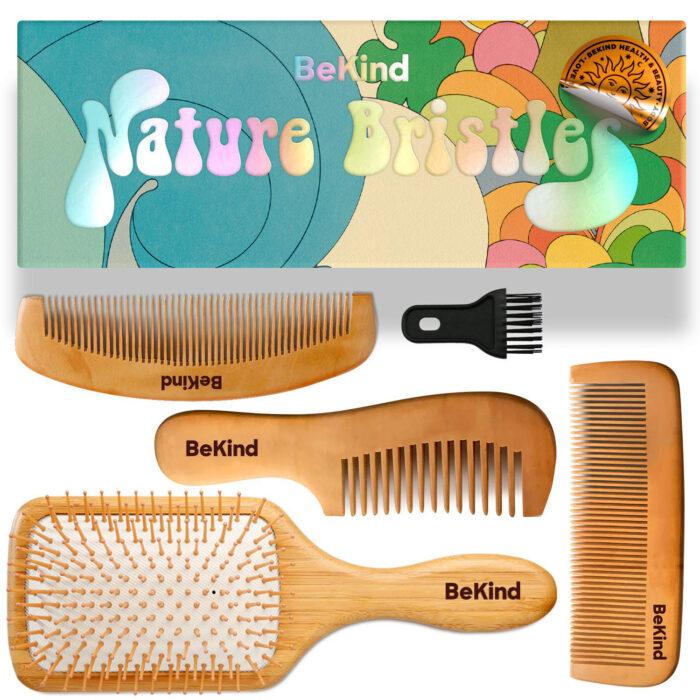 I1 Nature Bristles – Brush & Combs Kit Set