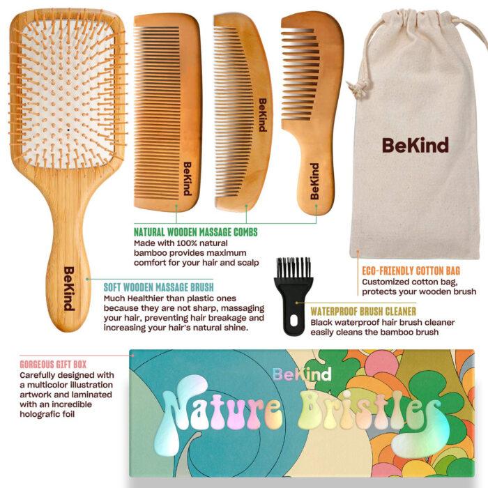 I2 Nature Bristles – Brush & Combs Kit Set