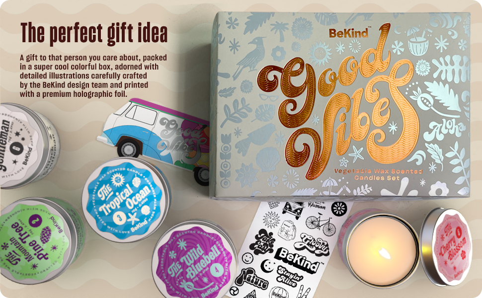 A9 BeKind Good Vibes 6 Scented Candles Set