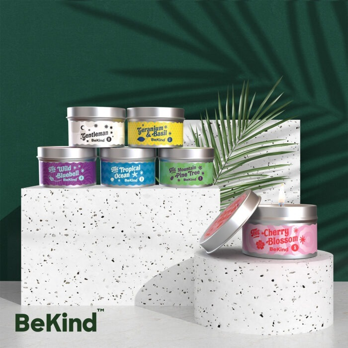 Artboard 1 copy副本 BeKind Good Vibes 6 Scented Candles Set
