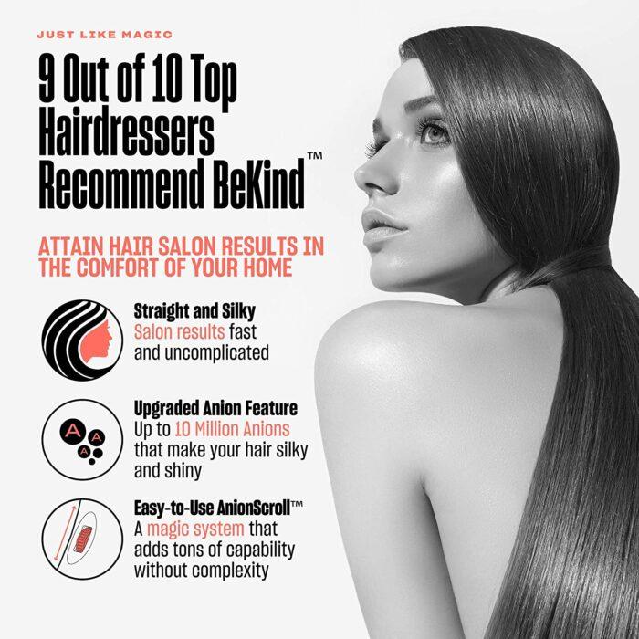 811VvdST0HL. SL1500 BeKind Hair Straightener Brush with AnionScroll
