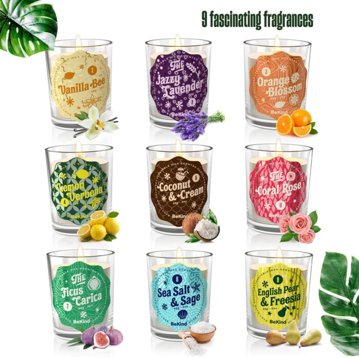 81J BeKind Sunshine 9 Scented Candles Set