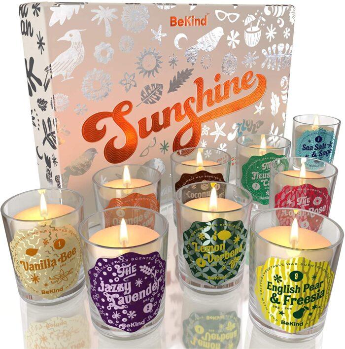 81lcMwOS0zL. AC SL1500 BeKind Sunshine 9 Scented Candles Set