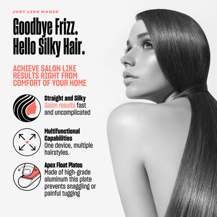 2 BeKind Apex Flat Iron Hair Straightener