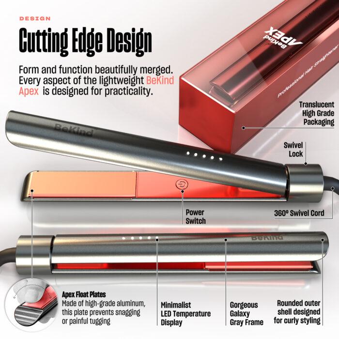 4 Galaxy gray BeKind Apex Flat Iron Hair Straightener