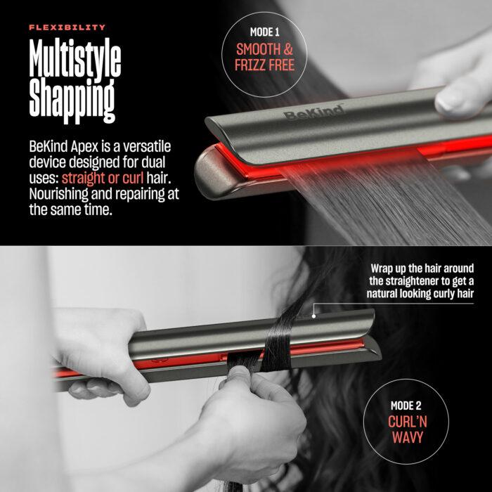 5 Galaxy gray BeKind Apex Flat Iron Hair Straightener