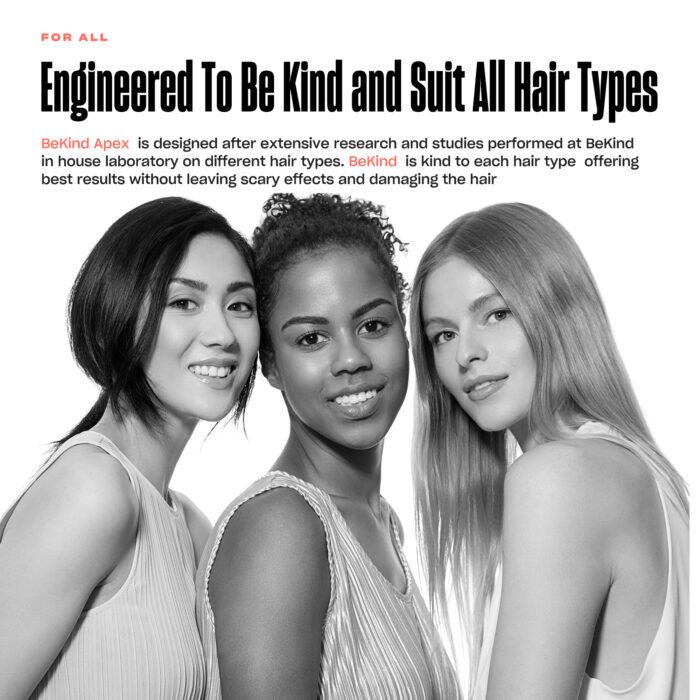 8 BeKind Apex Flat Iron Hair Straightener