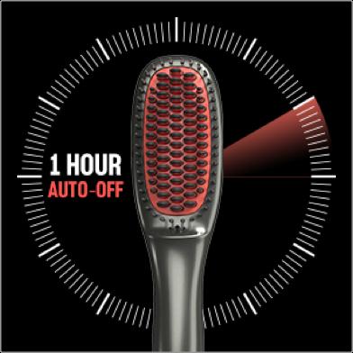 BeKind Anion hair straightener brush having 1-hour auto shut-off function