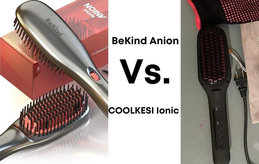 BeKind Anion Hair Straightener Brush Vs. Ionic Hair Straightener Brush by COOLKESI