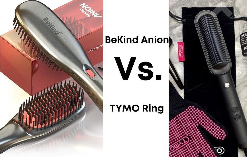 BeKind Anion Hair Straightener Brush Vs. TYMO Ring Hair Straightener Brush