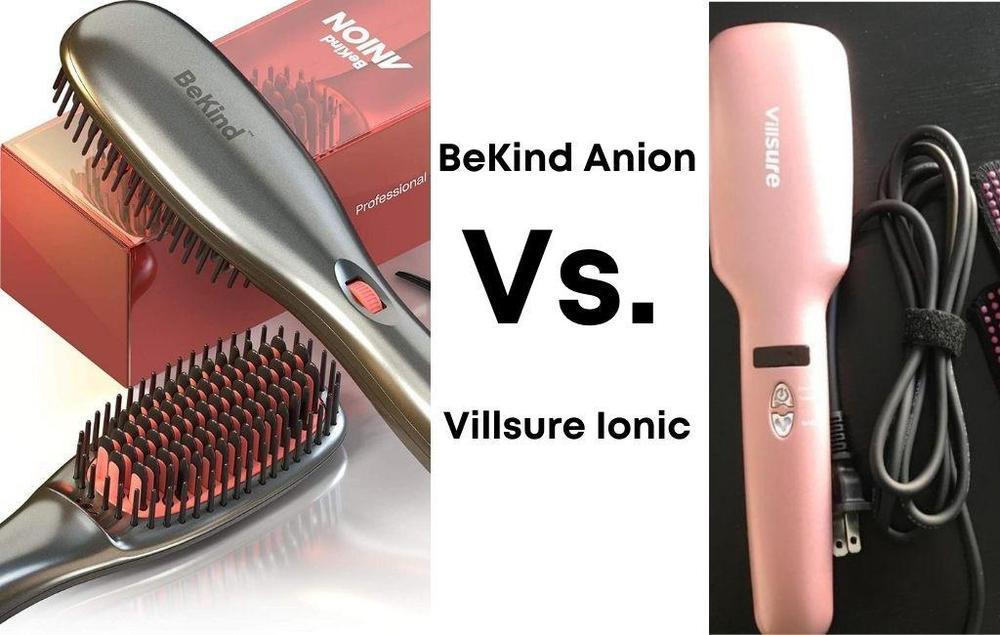 BeKind Anion Hair Straightener Brush Vs. Villsure Ionic Hair Straightener Brush