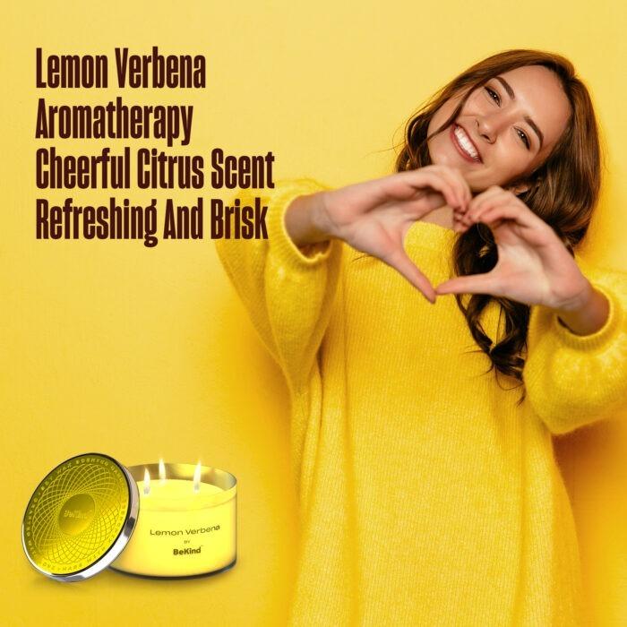 05 3 Bekind Large Jar Scented Candles - 14oz (Lemon Verbena)