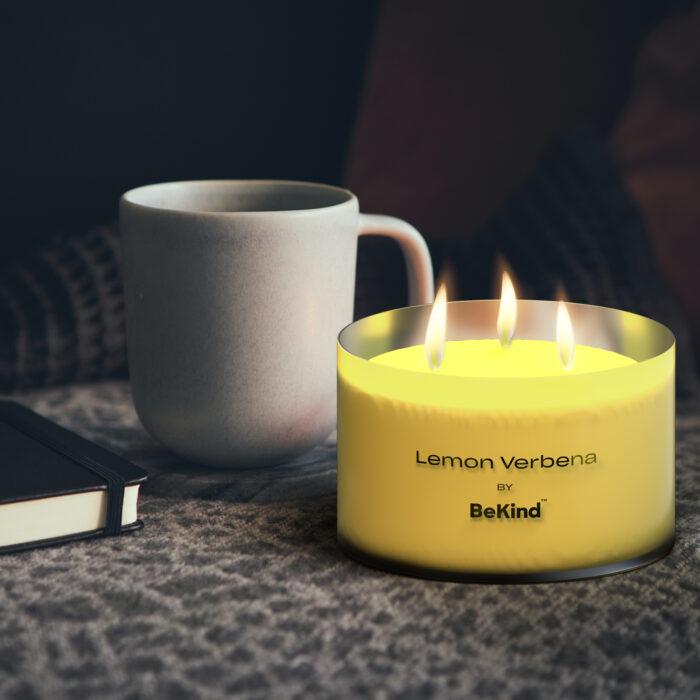06 3 Bekind Large Jar Scented Candles - 14oz (Lemon Verbena)