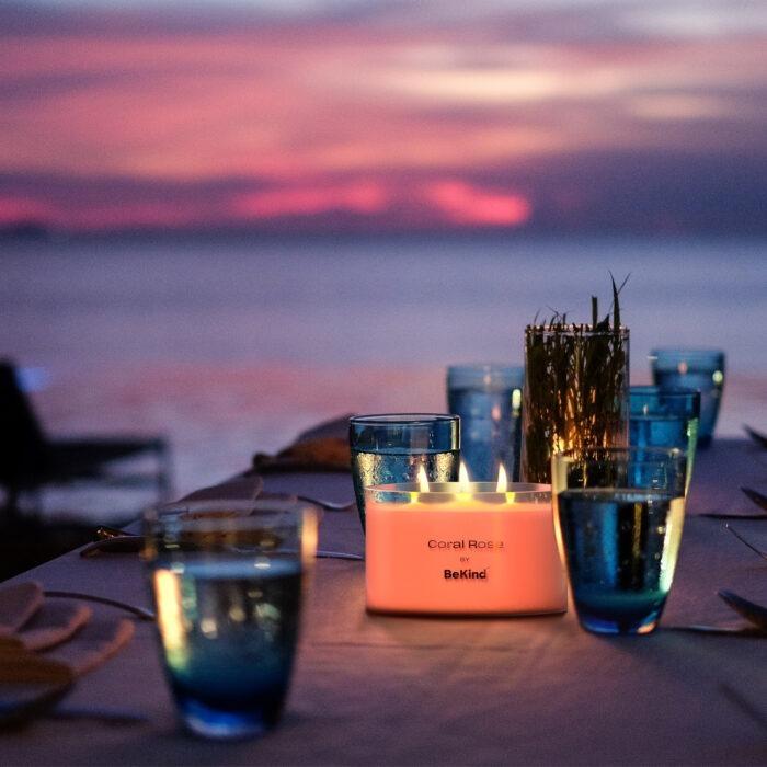 07 Bekind Large Jar Scented Candles - 14oz (Coral Rose)